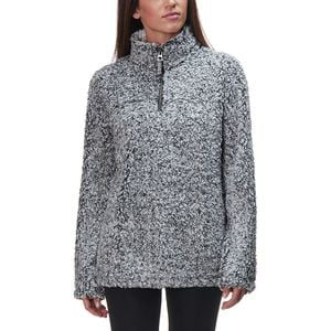 Frosty Tipped Pile Stadium Pullover - Women's Charcoal, M - Excellent