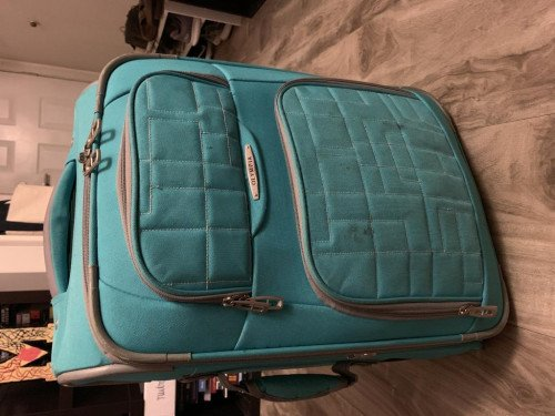 Olympus Teal Carry on Suitcase