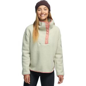 Sherpa Snap-Up Pullover - Women's Abbey Stone, XS - Good