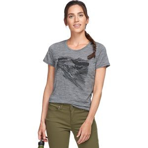Tech Lite Short-Sleeve Low Crew PCT Sketchbook - Women's Gritstone Heather, S - Excellent