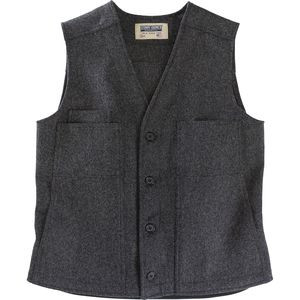Button Vest - Men's Charcoal, L - Like New