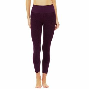 High-Waist Lounge Legging - Women's Black Plum Heather, XS - Excellent