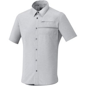 Transit Check Button-Up Short-Sleeve Shirt - Men's Alloy, XL - Fair