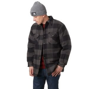 Flannel Snap-Up Shirt Jacket - Men's Charcoal, L - Fair