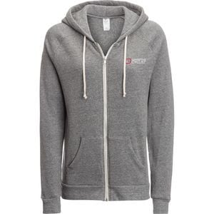 Logo Full-Zip Hoodie - Women's Grey Heather, S - Excellent