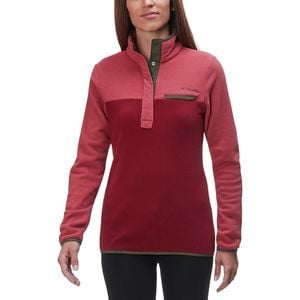 Mountain Side Fleece pullover - Woman's Rose Dust/Garnet Red, XS - Excellent
