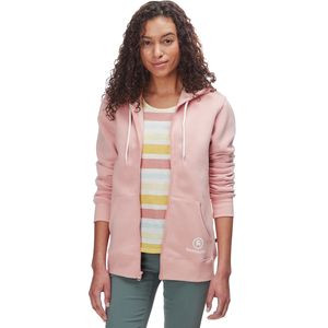 Full-Zip Hooded Sweatshirt - Women's Rose / White, XL - Good