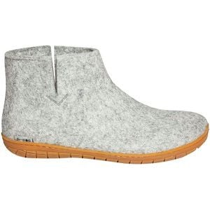 The Boot Rubber Slipper Grey/Tan, 39.0 - Good