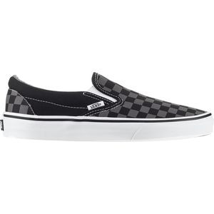 Classic Slip-On Shoe Black/Pewter Checkerboard, Mens 8.0/Womens 9.5 - Excellent