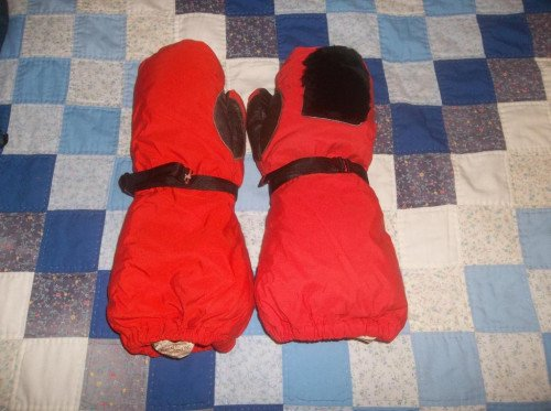 REI Goose Down Mittens Mitts AWESOME Vintage USA Made Medium WARM NICE