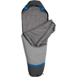 Aura 20 Sleeping Bag: 20F Synthetic Ultramarine/Coal, Regular - Good