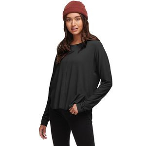 Rib Slouchy Dolman - Women's  Black, S - Good