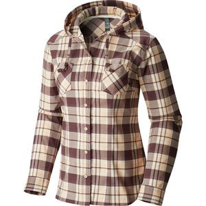 Stretchstone Flannel Hooded Shirt - Women's Purple Plum, L - Excellent
