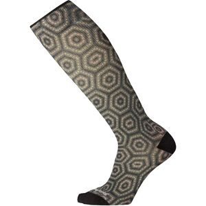Compression Hexa-Jet Print Over The Calf Sock - Women's Charcoal, S - Good