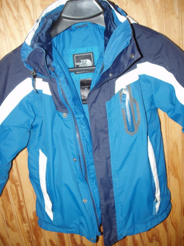 The North Face HyVent jacket w zip out liner size 7-8