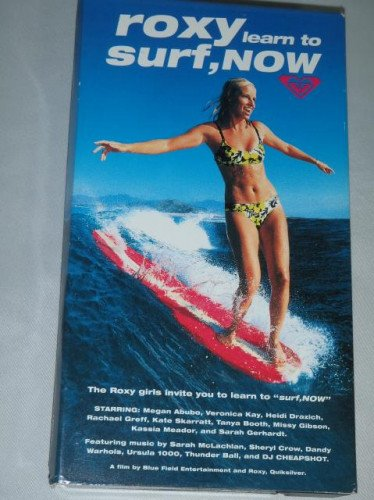Learn To Surf + LTS Now ROXY Surfing Instructionals Two VHS Tapes