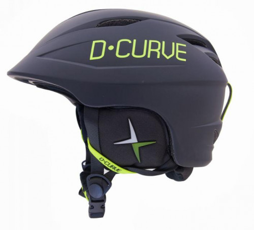 DCURVE Free Ride V06 Matte Black with Lime Snow Helmet