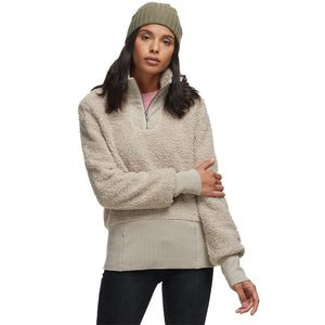 Cozy Teddy Sherpa 1/4-Zip Pullover - Women's Pumice Stone, M - Good