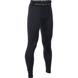 ColdGear Armour Fitted Legging - Boys' Black/Reflective, XL - Excellent