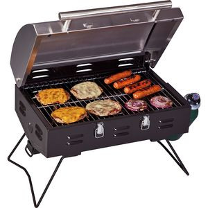 Portable BBQ Grill Black/Stainless, One Size - Good