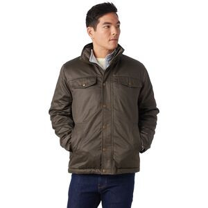 Coated Cotton Sherpa-Lined Jacket - Men's Charcoal, L - Good