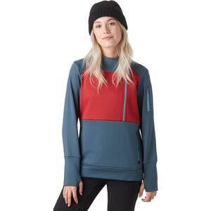 Timpanogos Tech Fleece 1/4-Zip Pullover - Women's Orion Blue/Red Ochre, L - Fair