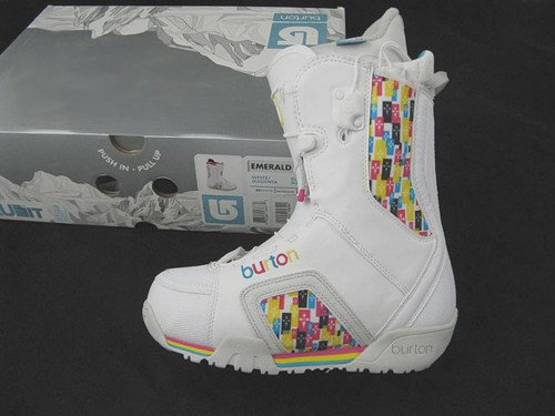 NEW Burton Emerald Snowboard Boots! US 4 UK 2.5 Euro 34 Mondo 21 White