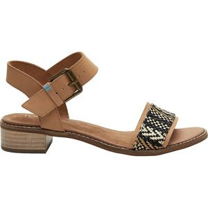 Camilia Sandal - Women's Honey Leather/Geometric Woven, 7 - Excellent