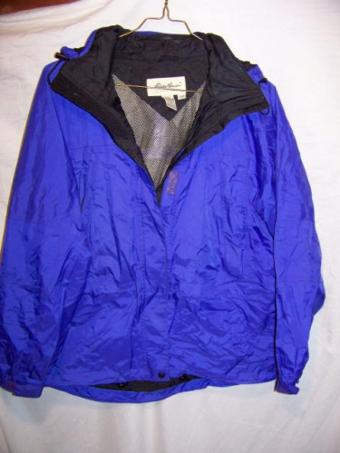 Eddie Bauer Gore-tex Hooded Waterproof Rain Jacket, Women's Large