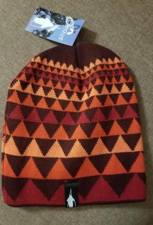 NEW Cirque Mountain Apparel Triangles Beanie Orange Red Ski
