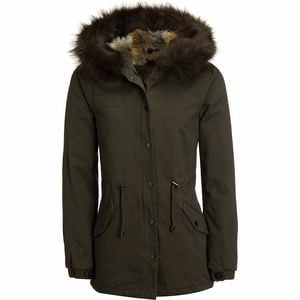 Casual Twill Insulated Jacket - Women's Olive, L - Good
