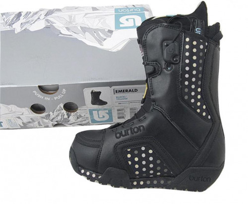 NEW Burton Emerald Snowboard Boots! US 5 UK 3 Euro 35 Mondo 22 Black