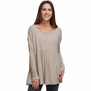 Forever Your Girl Long Sleeve Shirt - Women's Beige, XS - Good