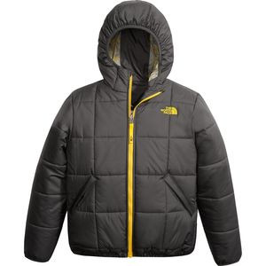 Reversible Perrito Hooded Insulated Jacket - Boys' Graphite Grey, M - Excellent