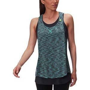 Double Layer Space Dye Tank - Women's Teal/Dark Grey/Lime, M - Excellent