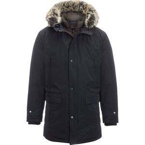 Hooded Insulated Parka - Men's Navy, L - Excellent