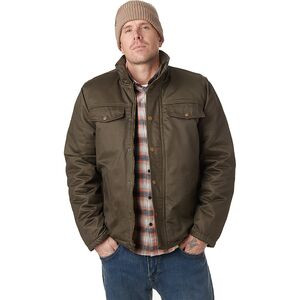 Coated Cotton Sherpa-Lined Jacket - Men's Dark Green, XL - Good