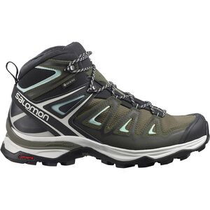 X Ultra 3 Mid GTX Hiking Boot - Women's Olive Night/Black/Icy Morn, US 7.5/UK 6.0 - Good