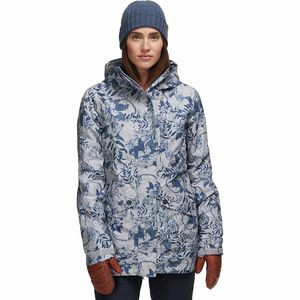 Glade Printed Gore-Tex 2L Jacket - Women's Heather Grey Botanical Flowers, XS - Good