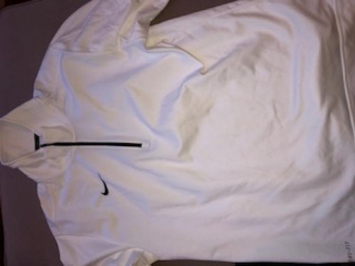 Nike Quarter Zip - White.  Size Medium