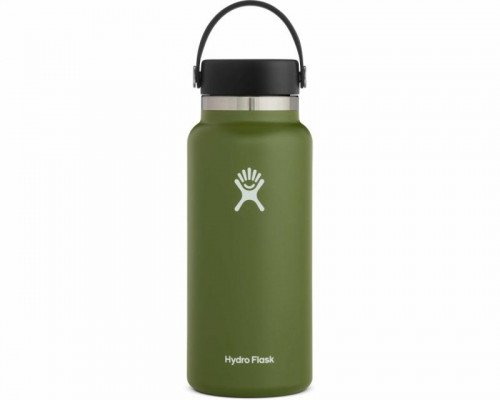 Hydro Flask 32oz Wide Mouth Water Bottle- OLIVE