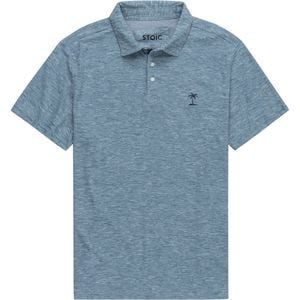 Heathered SS Polo Shirt - Men's Teal, M - Like New