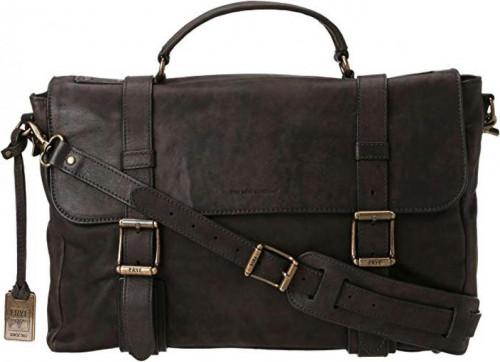 FRYE Men's Logan Flap Briefcase Pressed Nubuck