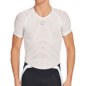 Super Lightweight Knitted Short Sleeve Baselayer  - Men's White, M - Excellent