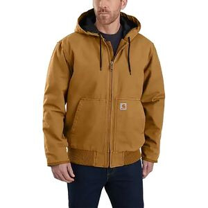 J130 Washed Duck Active Jacket - Men's Carhartt Brown, L - Fair