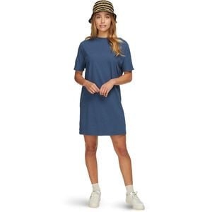 Woodside Hemp Tee Dress - Women's Shady Blue, L - Good