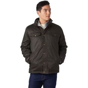 Coated Cotton Sherpa-Lined Jacket - Men's Brown, L - Fair