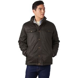 Coated Cotton Sherpa-Lined Jacket - Men's Brown, S - Good