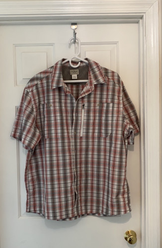 Men's LL Bean Cool Weave Shirt, Short Sleeve XL