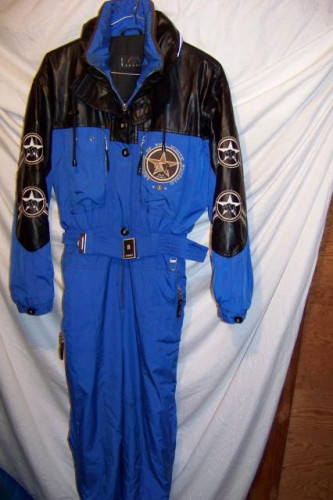Vintage Bogner White Buffalo Insulated One Piece Ski Suit, Women's 10